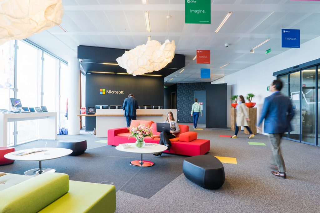 colourful, office interior design, workplace